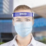 HOCOSY Viseira Facial Completa, Protetor de Proteção Facial, Viseira Protetor Facial, Viseira de Segurança Transparente Ajustável em Plástico para Proteção Facial