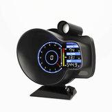DO916 Авто OBD Guage Head Up Дисплей Цифровой приборной панели Повышение температуры воды Температурное напряжение Датчик скорости Одометр Тахомет