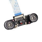 Módulo de câmera de visão noturna Catda C1130 HD Vídeo OV5647 Sensor Kit de webcam com corte IR integrado para Raspberry Pi 4B