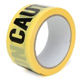 50m x 5cm Roll Yellow Caution Warning Adhesive Tape Sticker For Safety Barrier Police Barricade
