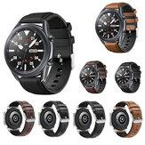 Bakeey 20 / 22mm Ancho Universal Casual Piel Genuina + Silicona Reloj Banda Reemplazo de correa para Samsung Galaxy Watch 3 41 / 45mm