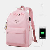 Women Fashion Large Capacity Backpack With USB Charging Port