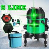 5ライン緑色光レーザーマシンレーザーレベル水平および垂直セルフレベリング