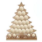 24 Oval Chocolates Rack De Madeira Calendário Do Advento Árvore De Natal Contagem Regressiva Casa Decorações