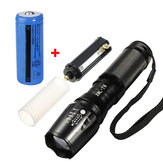 Elfeland  T6 1800LM 5 Modes Zoomable LED Flashlight + 26650 Battery