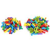 Plastic Multiple Color 72/102Pcs Tube Building Blocks Toy Kids Blocks Toys