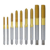Drillpro Titanium Coating Extrusion Taps M2-M12 Fluteless Forming Machine Plug Taps Metric Screw Thread Tap Drill Metal Threading Tools