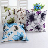 Honana WX-D6 45x45cm Vintage Leaves Flower Bamboo Linen Throw Pillow Case Waist Cushion Cover