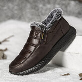 Men Waterproof Cloth Lightweight Plush Warm Soft Wearable Sole Snow Ankle Boots