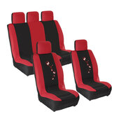 9PCS Universal Car Full Seat Covers Protector Cushion Color Butterfly Front Rear Truck SUV Van