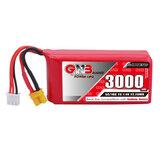Gaoneng GNB 7.4V 3000mAh 5C 2S Lipo Battery XT30 Plug for Jumper T16/T18 RADIOMASTER TX16S Transmitter