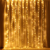 3M*2M USB 200LED Curtain Window Fairy String Light Twinkle Christmas Party Wedding Holiday Outdoor Lamp