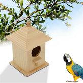 Thú cưng bằng gỗ Chim vẹt hoang dã Bộ nạp chim treo Công cụ cho ăn trang trí sân vườn