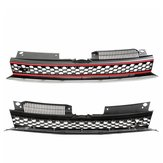 Front Bumper Main Center GTI Style Black Or Red Mesh Grille For VW Golf 6 MK6 10-14