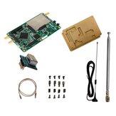 HackRF One 1MHz-6GHz Placa de desenvolvimento de plataforma de rádio RTL SDR Demoboard Kit definido por software Rádio amador Dongle receptor com placa de acrílico
