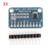 3Pcs CJMCU-ADS1115 16Bit ADC Development Board Module