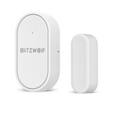 BlitzWolf®BW-IS6 433MHz Mini Arm Disarm Real-time Alarm Push APP Control Door Window Contact Sensor For Smart Home Alarm System