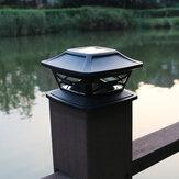 Outdoor Solar Column Head Light Tuindecoratie Licht Huishoudelijke Hek Lantaarnpaal Licht