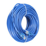 30m Blue Cat5 RJ45 Ethernet-kabel voor Cat5e Cat5 RJ45 Internet Netwerk LAN Kabel Connector