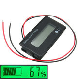 3Pcs 12V / 24V / 36V / 48V 8-70V LCD Acid Lead Lítio Bateria Indicador de Capacidade Voltímetro Digital