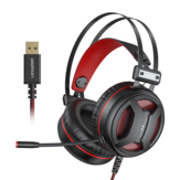 New Langsdom G2 USB 7.1 Gaming Headset RGB Light Headphone with Noise Cancelling Microphone for PC Laptop PS4 Xbox