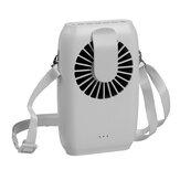 2000 mAh Taşınabilir Mini Fan Çift amaçlı Bel Fan USB Masaüstü Soğutma Fanı Asılı Boyun Hava Soğutucu