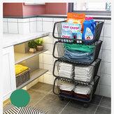Rack portátil de cozinha Multilayer Portable Storage House Banheiro Arranjo para frutas recebe