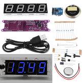 Geekcreit® EC1840 DS3231 Červená / zelená / modrá / bílá DIY světelná regulace Čas vysílání Hudba Elektronická hodinová souprava bez pouzdra