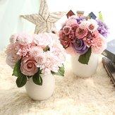 Gelin Yapay Çiçekler Gelin Buketi Ev İçin Taklit Çiçek Düğün Dekorasyon