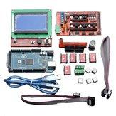 Geekcreit LCD 12864 RAMPS 1.4 Placa 2560 R3 Placa de control A4988 Kit de controlador para impresora 3D