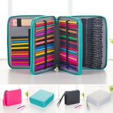 120 Slots Pencil Case Kosmetik Makeup Bag Storage Travel Zipper Pouch Alat Tulis Siswa Gambar Pen