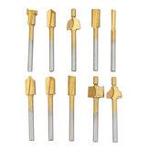 10 Uds HSS cuchillo de corte para carpintería cuchillo de afilado chapado en titanio Micro cortador de tallado de madera