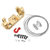 Servo dianteiro de bronze Stand Bracket with 25T Winch Wheel Kit para RC Crawler 1/10 TRX4 Spare Parts