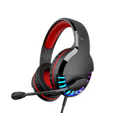M18 3.5mm+USB Gaming Headsets Multicolor Lighting 50mm Unit Wired Headphone LED Lght Intelligent Noise Reduction and Soundproofing, 3d Surround Sound Effect for PC