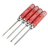 4PCS Paslanmaz Çelik 174mm Kırmızı Hex Tornavida Tamir El Parçalar