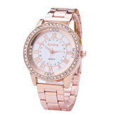 Berlian Fashion Wanita Stainless Steel Wrist Watch