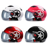 BYB Motorcycle Helmet Scooter Bike Open Face Half Baseball Cap Anti-UV Safety Hard Hat