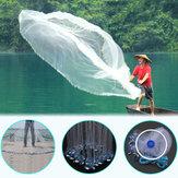 Filetdepêchedefontede main de 2,4M / 3,6M filet Nylon filet d'appât de poisson avec le platine