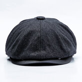 Men Middle-aged Cotton Earmuffs Newsboy Hunting Hat