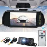 Draadloze 7 Inch LCD Spiegel Monitor Auto Achteruitrijcamera IR Achteruitrijcamera Nachtzicht