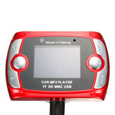 Wireless LCD Roda de anel de aço remoto Transmissor de FM de carro MP3 Player USB com Bluetooth