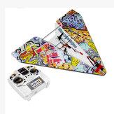 550mm Spanwijdte 2.4G 4CH DIY Magic Board Mini Papier RC Vliegtuig Delta Wing RTF voor Trainer Beginner