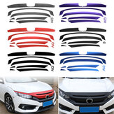 Autocollant de grille de pare-chocs avant Decal Fit Honda Civic 10e 2016-17 Grill Décoration