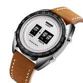 SKMEI1516BusinessStyleCreativeDial reloj de cuarzo de cuero