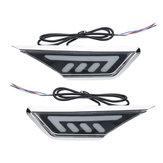 2 pz Giallo Bianco LED Car Leaf Board Side Marker Lights Lampade per Honda Civic 10th 16-17