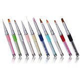 8 Colors Nail Art Polish Engraving Pen Drawing Line Design Acrylic UV Gel DIY Painting Brush