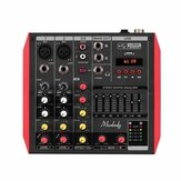 ELM D4 4 Channel Audio Bluetooth Mixer Mixing Console with 7-Band EQualizer USB Phantom Power 48V
