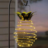 Ananas LED Solar Light Waterproof Hanging Lantern Metal Warm White Garden Decoratieve buitenlamp