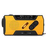 Портативный AM FM NOAA Радио Солнечная Crank Аварийный Погодный Фонарик Аккумуляторная Power Bank для iPhone