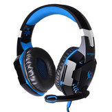 KOTION EACH G2000 Over Ear Stereo Bass Gaming Headphone Headset Earphone Headbrand with Mic LED For PC Game